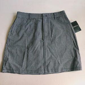 Checkered Forever 21 Skirt